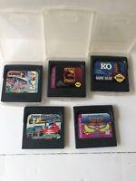 Lot Bundle 5 Sega Game MORTAL KOMBAT/KO/SONIC/SUPER MONACO/GARLot # 3