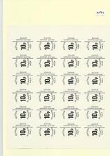 CINDERELLA -SM537- GB STRIKE MAIL - GLASGOW -  10p value  - BLK OF 24