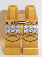 Lego Minifig Pearl gold Legs x 1 with Silver Pattern for Minifigure