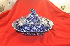 Beautiful Burleigh Calico lidded serving dish in excellent condition