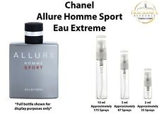 Chanel Allure Homme Sport Eau Extreme SAMPLES 2ml 5ml 10ml Glass Atomizer