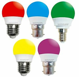 3w mini LED Golf Ball in Blue, Red, Green, Purple, Yellow B22, E14, E27