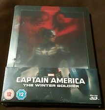 Captain America Winter Soldier - Lenticular Steelbook (Blu-ray 2D/3D) BRAND NEW!