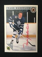 FRANK MAHOVLICH 1992 ULTIMATE AUTOGRAPHED SIGNED AUTO HOCKEY NHL CARD 40