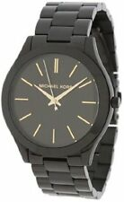 Michael Kors Women's Black-Tone Stainless Steel Watch MK3221