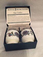 Vintage Royal Worcester Porcelain Egg Coddlers Palmyra - Set Of 2 - EUC