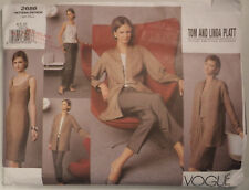 V-2686 Tom and Linda Platt Jacket Dress Top Pants Sewing Pattern Vogue SZ 6-8-10