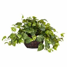 Nearly Natural 6681 Pothos with Vase Decorative Silk Plant- Green NEW
