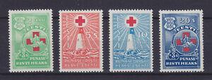 ESTONIA 1931, Mi 90-93, RED CROSS, MLH
