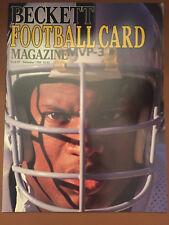 BECKETT FOOTBALL CARD MAGAZINE ISSUE #1 BO JACKSON RAIDERS DEC 1989 DAN MARINO