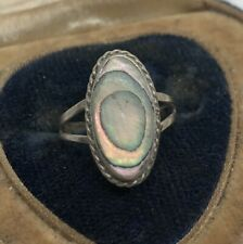 Vintage Sterling Silver Ring 925 Size 4 Repair Shell Mexico