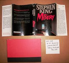 Misery Stephen King large print hardcover hardback Hall Viking '88 16 pt plantin
