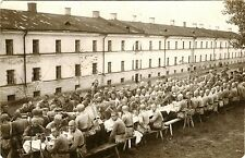 Large Group Soldiers Having Meal & Two Original Vintage Real Photo Postcards