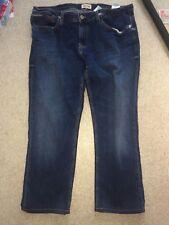TOMMY HILFIGER MENS 36W 24L BLUE STRAIGHT LEG JEANS (VG COND)