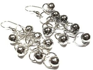 Beautiful Ladies Sterling Silver Chandelier Design Earrings