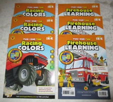 Firehouse Learning Racing Colors Two In One Fun! New Lot of 6 Carson-Dellosa