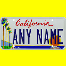 1/43-1/5 scale custom license plate set any brand RC/model car - California tags