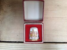 New Boxed Caverswall Queens Royal  Silver Jubilee Comemorative Thimble 1952-1977
