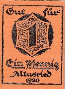 Germany Altusried 1 Pfennig 1920 Notgeld  (C82)