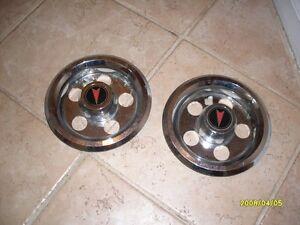(2) 82 Pontiac Phoenix Oldsmobile Omega Wheel Cover Center Cap 5 Lug OEM 475187