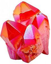 Healing Stone Red Titanium Coated Crystal Cluster Geode, Druzy Gemstone Crystals