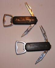 2 Vintage Atlantic City Bottle Opener Pocket Knife