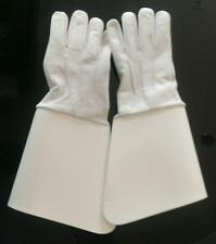Gauntlets White Leather, Household Cavalry Royal British Legion, Army S, M, L,XL