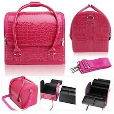 Pink PU Leather Fashion Makeup Case /Vanity Bag/Jewelry Box/ Case