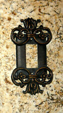 Metal Single Rocker Switch Plate Cover Old World Tuscan Fleur de Lis Medieval