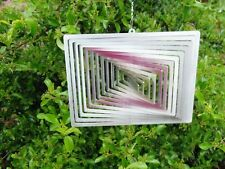Edles Windspiel Rechteck klein aus Edelstahl - f. Innen u. aussen - Neu