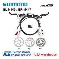 SHIMANO Alivio BL-M445 BR-M447 2 Pistons Hydraulic Disc Brake Set M446 MTB OE