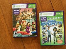 Lot of 2 XBOX 360 Kinect Games:  Kinect Sports Season Two and Kinect Adventures!