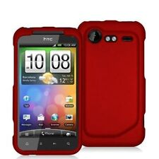 Hard Rubberized Case for HTC Droid Incredible 2 - Red
