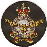 RAAF BADGE EMBRIODERED LARGE SIZE - ROYAL AUSTRALIAN AIR FORCE