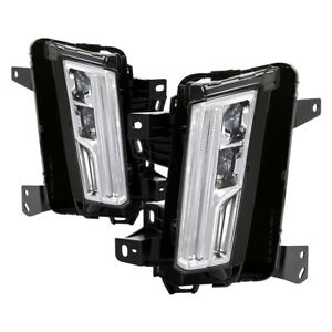 For 2017-2019 Cadillac XT5 LED Bumper Fog Lights with LED Turn Signal Lamps