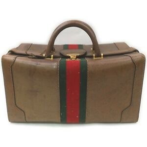 Gucci Travel Bag  Browns Leather 841166