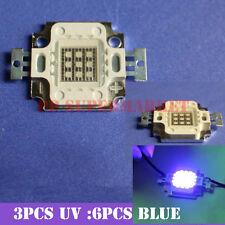 10W Actinic Hybrid 445nm + UV395nm led equivalent 420-430nm led high power 9-12v