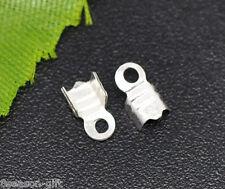 1000 SP Necklace/Cord Crimp End Caps W/Loop 6.3x3.7mm