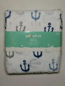 Pillowfort Sheet Set Blue Anchors - Full
