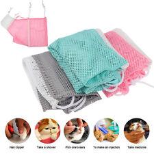 Mesh Cat Grooming Bath Bag Cat Supplies Washing Bags Pet Bathing Nail Trimming
