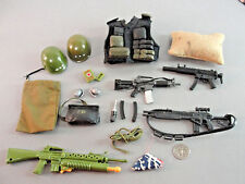 21ST CENTURY GI JOE COMBAT GEAR WEAPON AMMO CLIPS VEST RIFLE FLAG HELMET LOT 29