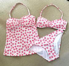 M&S Tropical Print Bandeau Bikini Top &/or Bandeau Tankini Top &/or Bottoms New