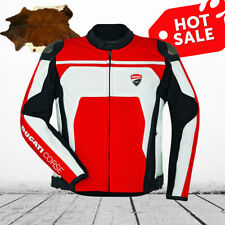 Ducati Corse C4 Jacket Motorcycle Riding Jacket CE Leather jacket