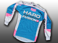Haro Designs Fusion Old School BMX, Long-Sleeve Jersey Freestyle Cycling, AM