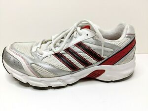 Adidas Adiprene Running Shoes Men's Size 8.5 G14635  White Red Silver