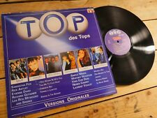 TOP DES TOPS COMPILATION LP 33T VINYLE EX COVER EX ORIGINAL 1989