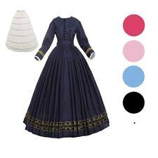 Women Victorian Civil War Ball Gown 1860s Southern Belle Dress Vintage Costume