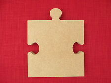JIGSAW PUZZLE PIECE large free standing wooden MDF craft shape 18mm thick