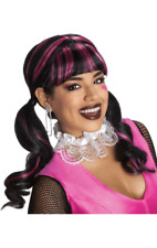 Womens Monster High Draculaura Wig Halloween Fancy Dress Costume Accessory