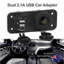 Dual USB Car Cigarette Lighter Socket Splitter 12V Charger Power Adapter RX